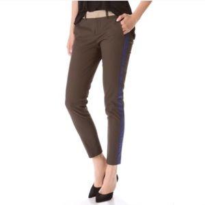 Vince Color Block Side Stripe Skinny Ankle Pants